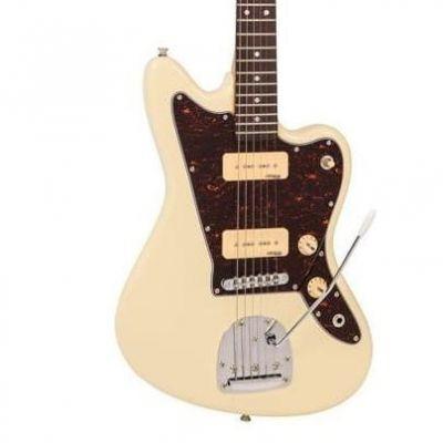 Vintage V65 Electric Guitar With Vibrato Vintage White