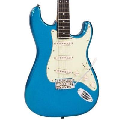 Vintage V6 Electric Guitar Candy Apple Blue