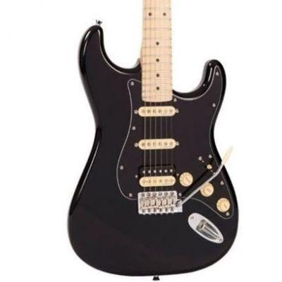 Vintage V6 Electric Guitar HSS Boulevard Black
