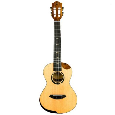 Flight Victoria Concert Electro Ukulele, Solid Top, Spruce and Koa