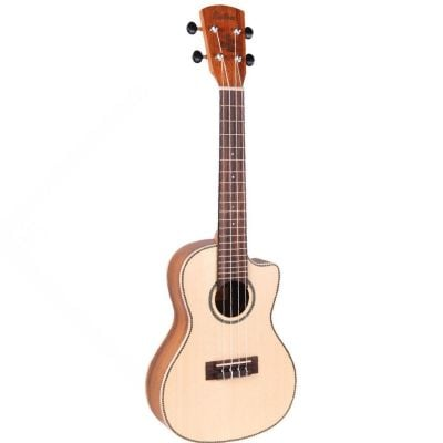 Vintage Laka Series Electro Acoustic Concert Ukulele Solid Spruce Koa