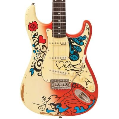 Vintage V6 Icon Blug Summer Of Love Guitar