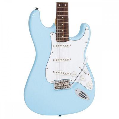 Vintage V6 Electric Guitar Laguna Blue