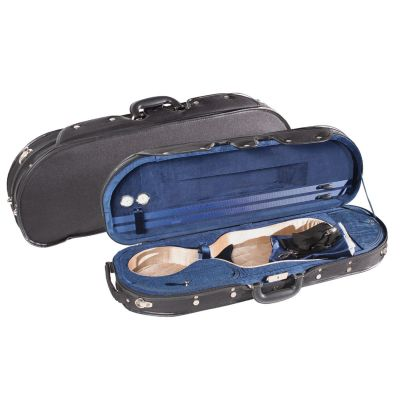Young D-Shaped Delux Violin Case, Black/Blue