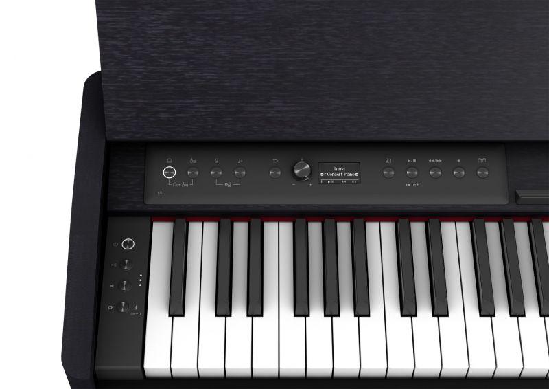 Roland F701 Compact Digital Piano, Contemporary Black