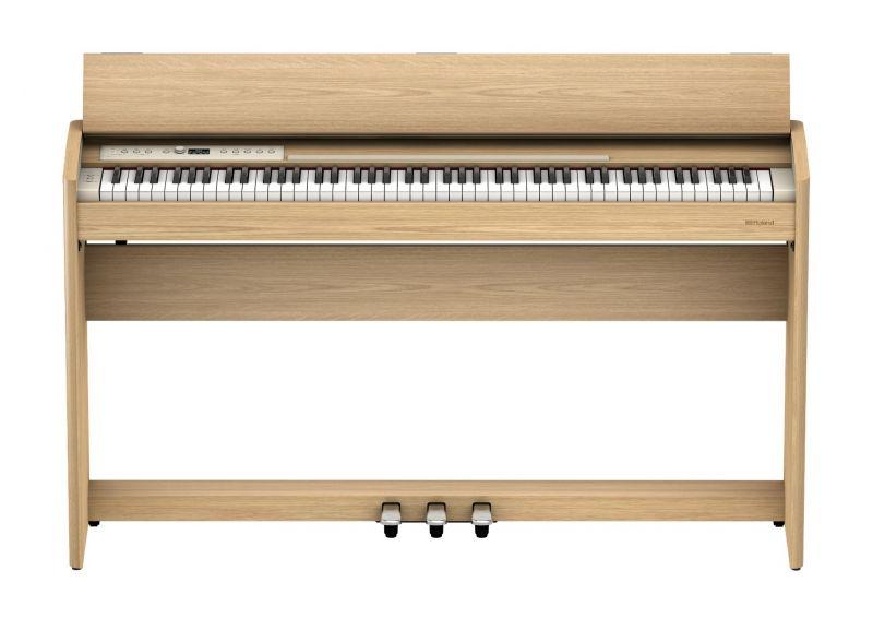 Roland F701 Compact Digital Piano, Light Oak