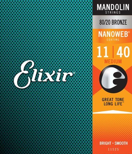 Elixir Mandolin Strings, Nanoweb, Medium Acoustic (011 - 040)
