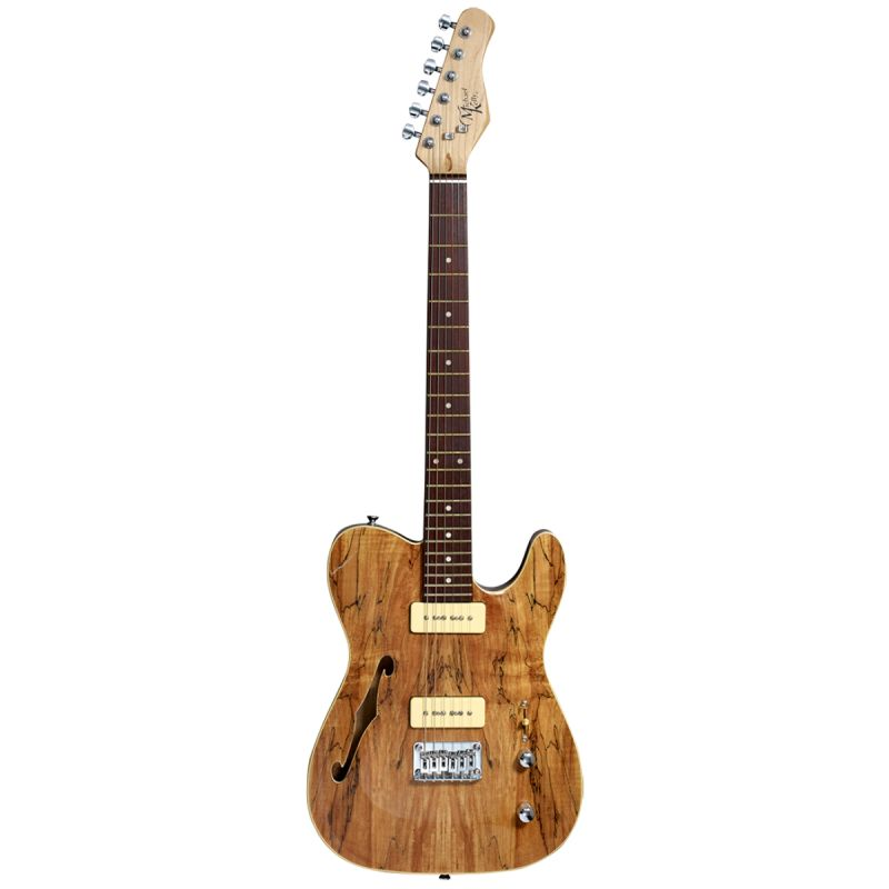 Michael Kelly 59 Series Thinline Semi Hollow Electric Guitar, Spalted Maple