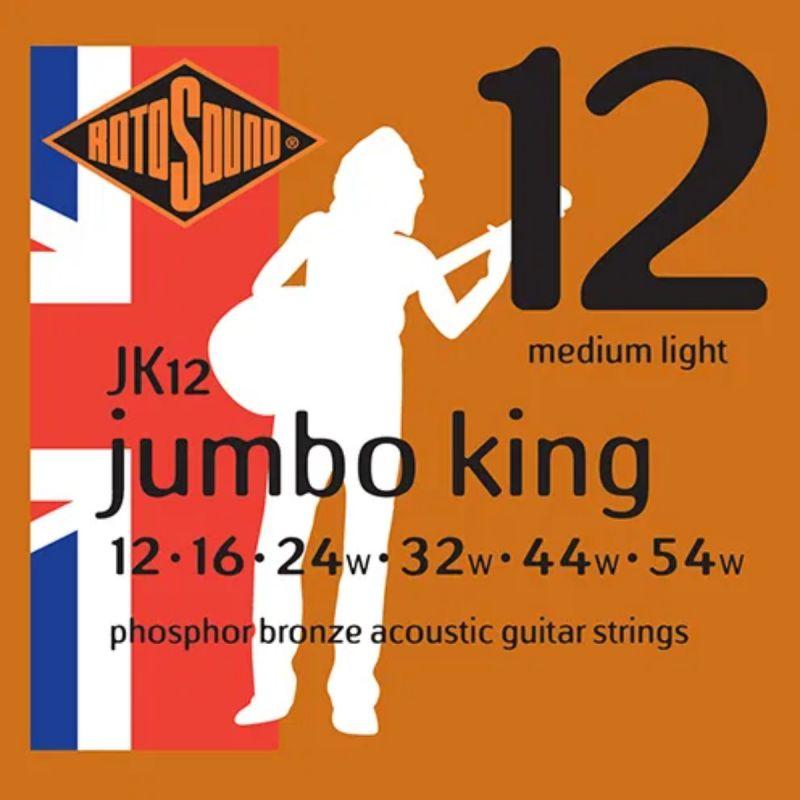 Rotosound Jk12 Phosphor Bronze 12 16 24 32 44 54