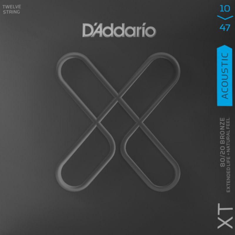 D'addario XTABR1047-12 XT Acoustic 80/20 Bronze 12-String Light 10-47