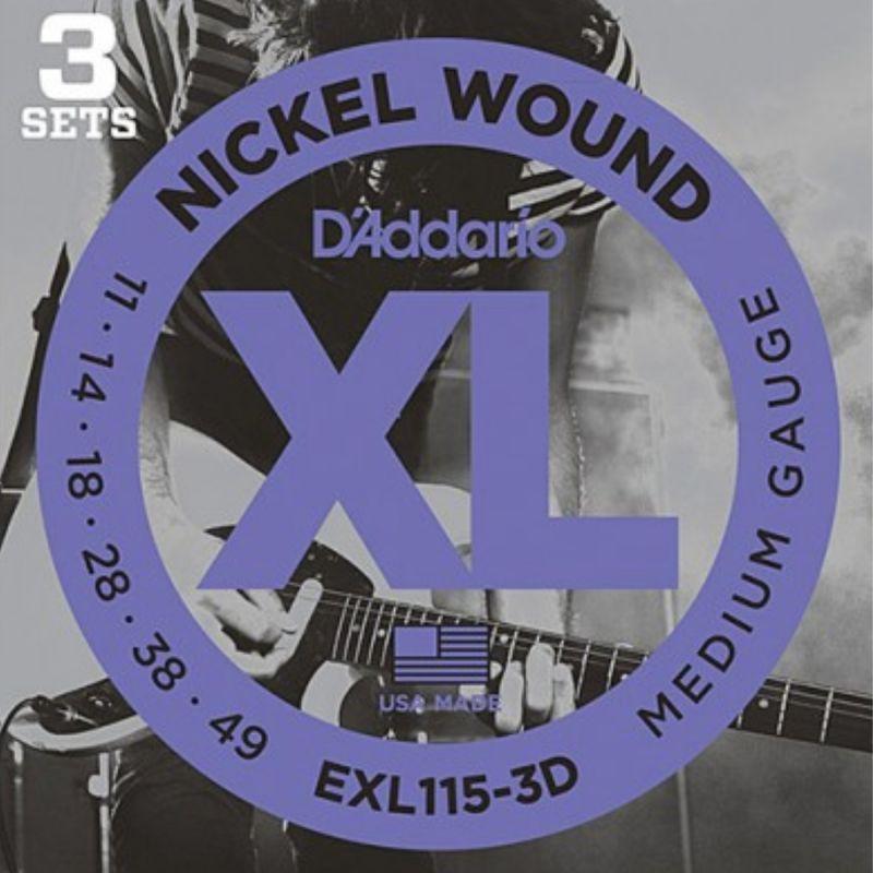 D'Addario XL Jazz Rock 3D Set