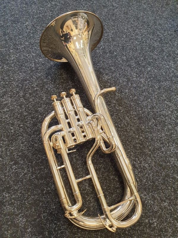Pre Owned Besson BE950 Sovereign Tenor Horn, silver plated