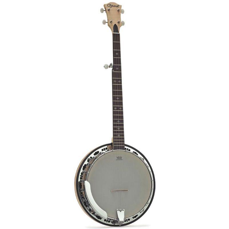 Ozark 2109RG 5 String Resonator Banjo, Brass Tone Ring