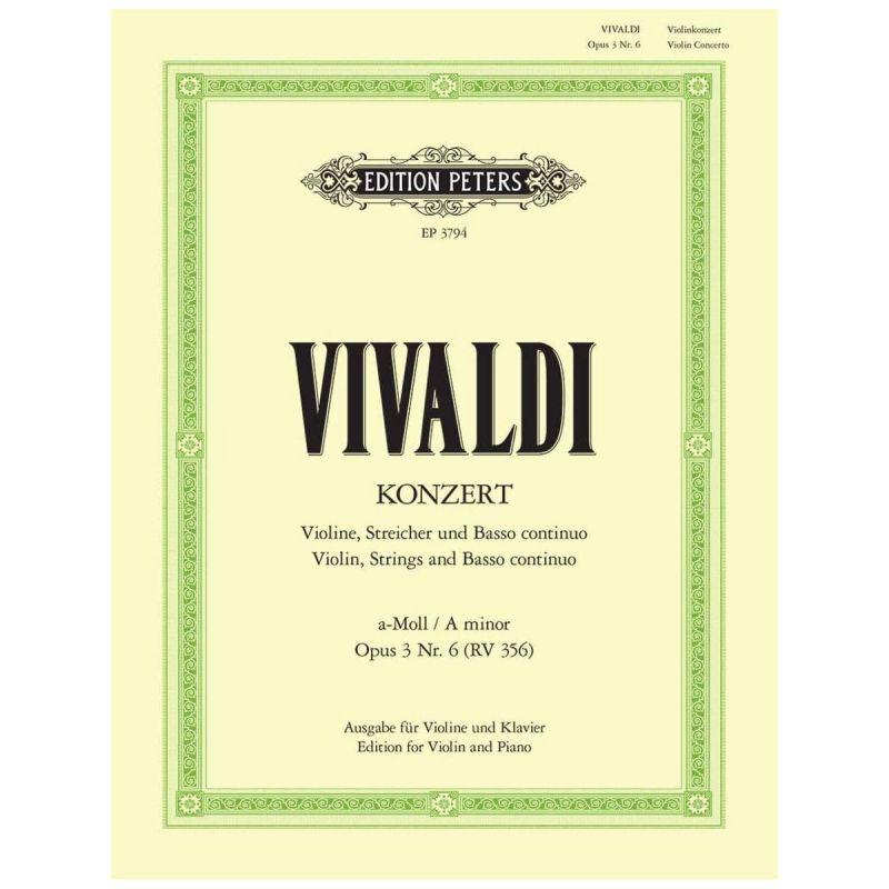 Vivaldi - Concerto in A minor Op 3 No 6 RV 356