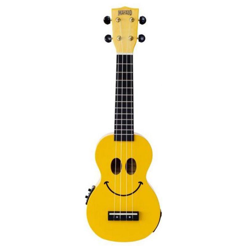 Mahalo 2211SMEYE Soprano Smile Electro Ukulele, Yellow