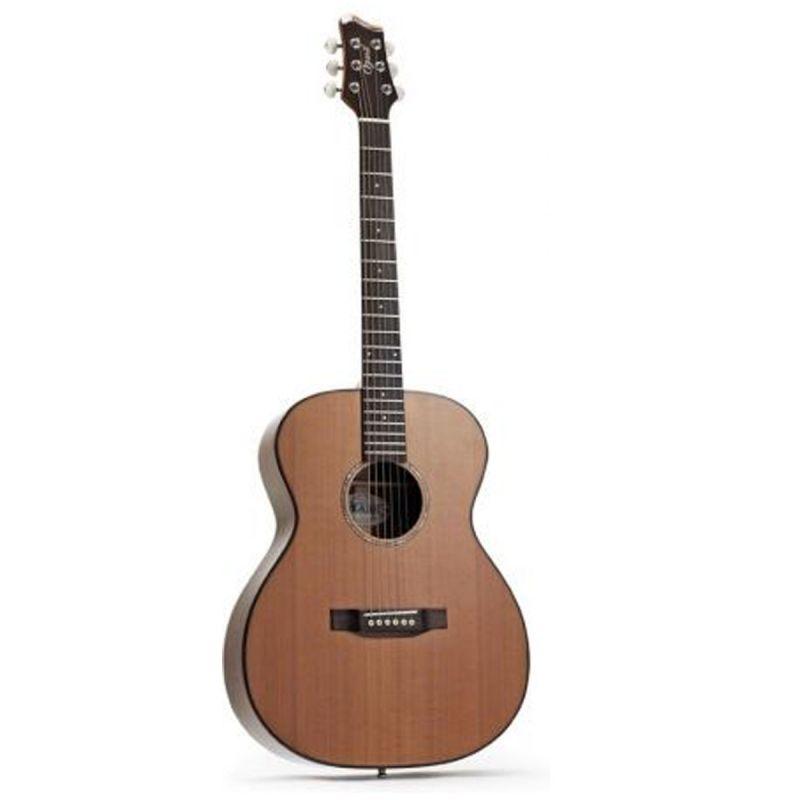 Ozark 3800 Folk Guitar Small Body Laminated Koa/ Solid Cedar