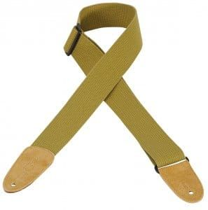 Levy's M8-TAN SoftHand Polypropylene With Leather Ends Tan Guitar Strap