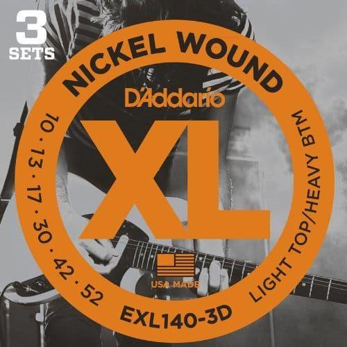 D'Addario XL Light Top Heavy Bottom 3D Set Guitar Strings