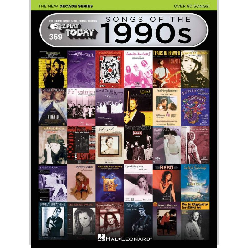 E-Z Play Today Volume 369 - Songs of the 1990s - The New Decade Series