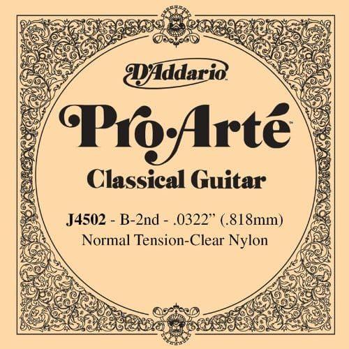 D'Addario Pro-Arte Nylon Classical Guitar Single String, Normal Tension, Second
