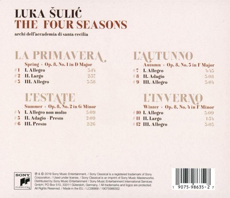 LUKA SULIC - VIVALDI/THE FOUR SEASONS