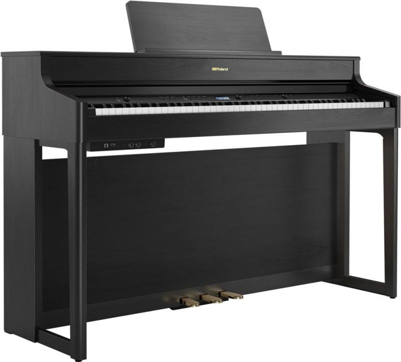 Roland HP702 Concert Class Piano, Charcoal Black