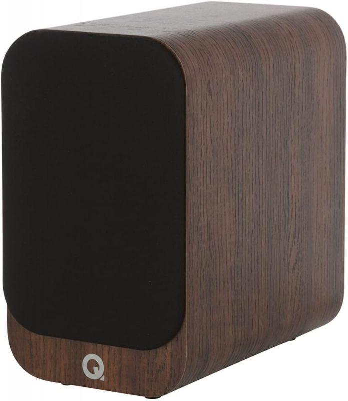 Q Acoustics 3010i Compact Bookshelf Speakers, English Walnut