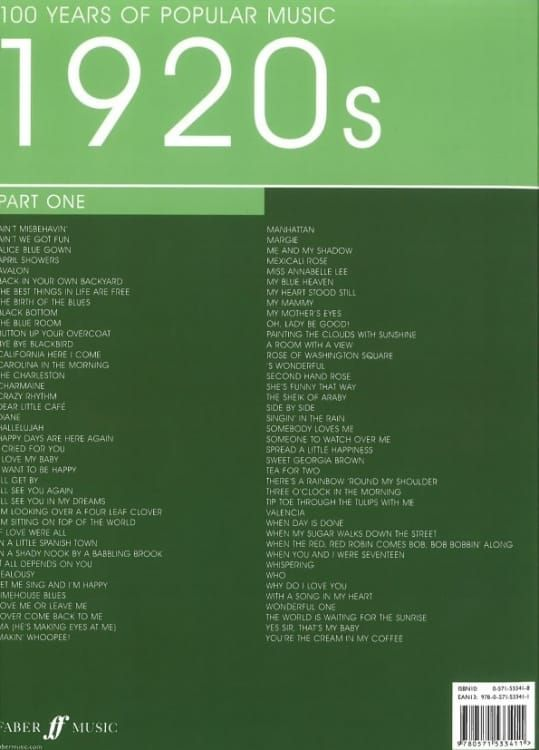 Various - 100 Years of Popular Music 20s Vol 1 PVG