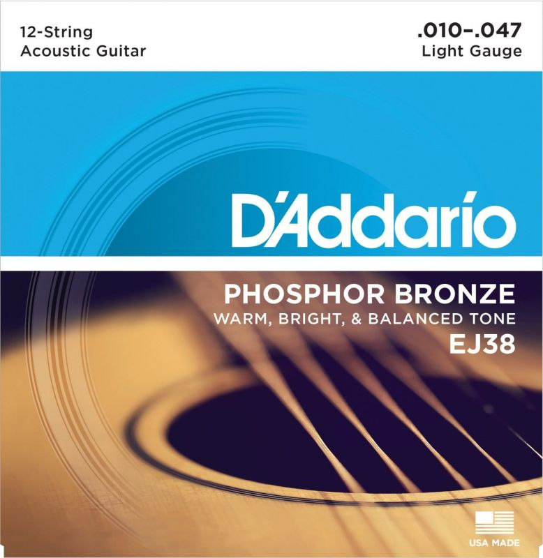 D'Addario Phosphor Bronze 12 String Light