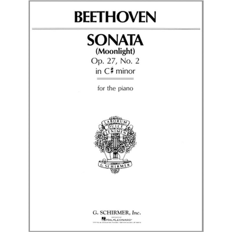 Beethoven, Ludwig Van - Beethoven Piano Sonata In C Sharp Minor Op 27 No 2 'Moonlight'