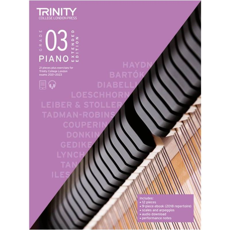 Trinity College London Piano Exam Pieces & Exercises 2021-2023 Grade 3 (extended edition)