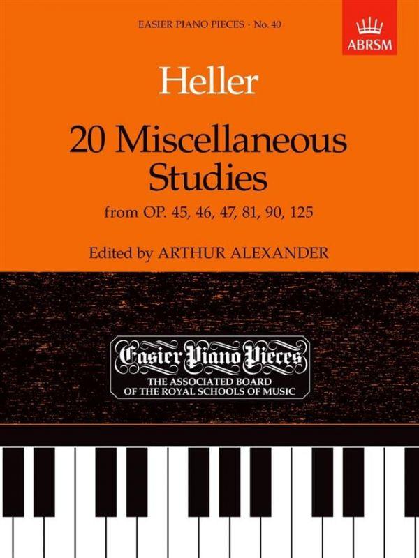 Heller, Stephen - EASIER PIANO PIECES NO 40 HELLER 20 MISCELLANEOUS STUDIES