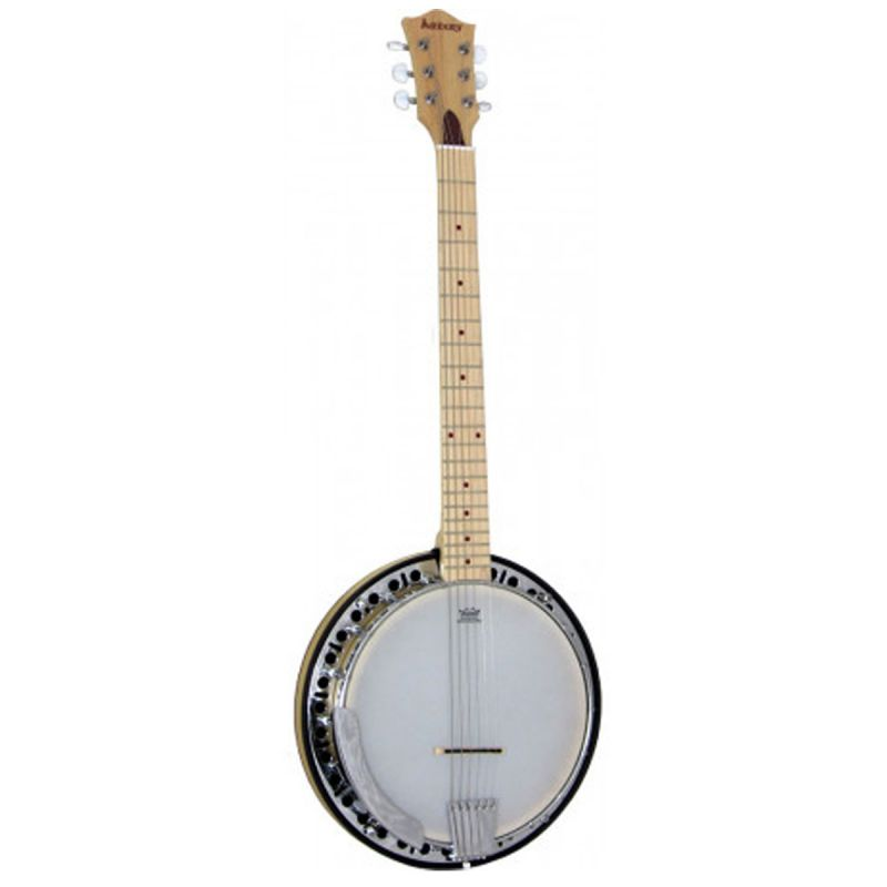 Ashbury AB-65G 6 String Guitar Banjo, Maple