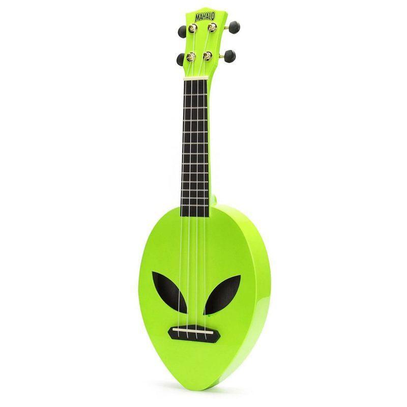 Mahalo 2520AGR Soprano Ukulele, Alien Design, Neon Green