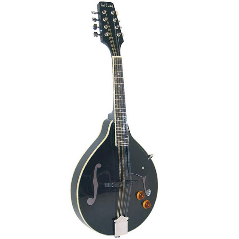 Ashbury AM-10E A Style Mandolin, Black