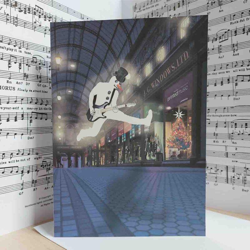 Christmas Card Arcade Snowman