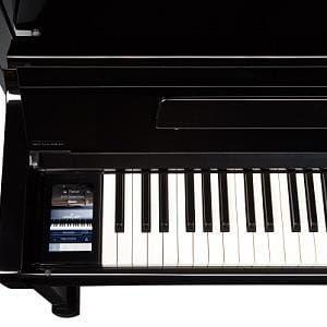 Kawai K300 Aures Hybrid Upright Piano; Polished Ebony