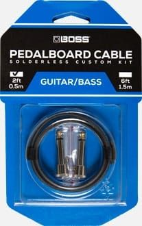 Boss BCK2 Pedalboard cable kit, 2 connectors, 2ft / 0.5 m cable