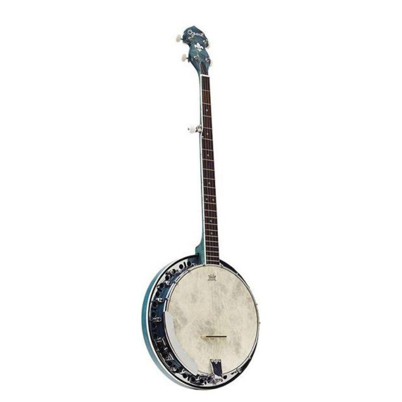 Ozark 2306GBU 5 String Resonator Banjo, Blue