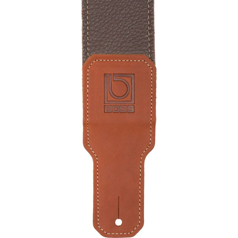 Boss 3 Brown Premium leather guitar strap
