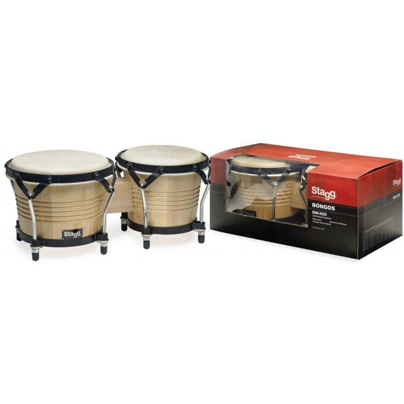 Stagg Wood Bongo 7.5 + 6.5 Heads Natural