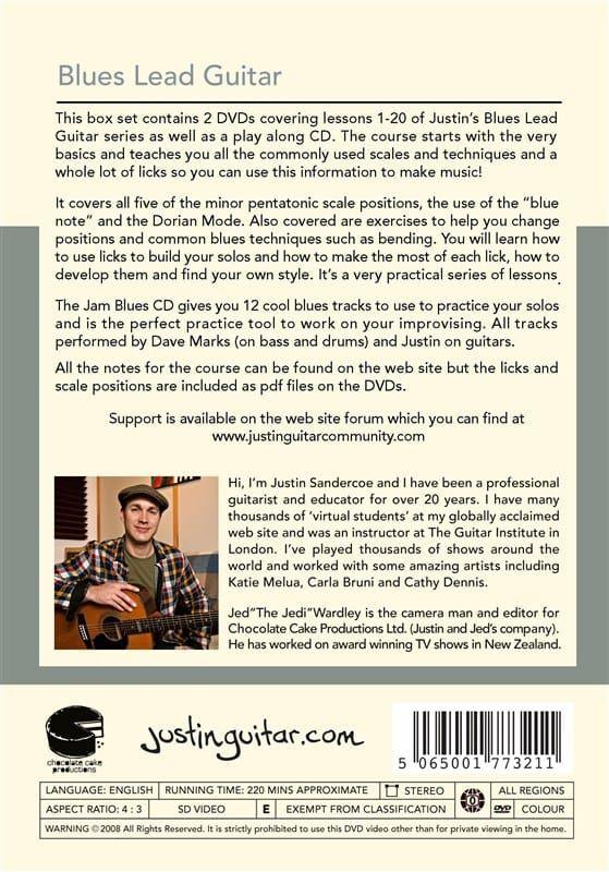 Justin Sandercoe - Justinguitar.com Blues Lead Guitar (PAL DVD and CD)