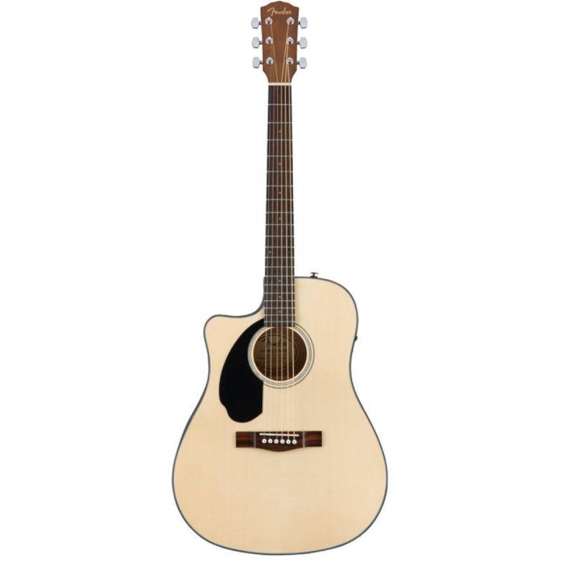 Fender CD-60SCE Left Handed Nastural Acoustic Guitar