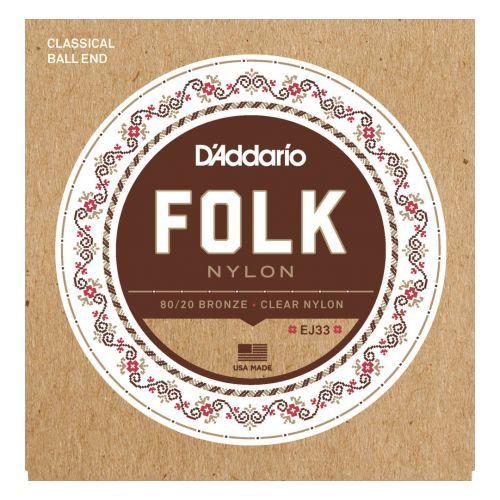 D'Addario Folk Nylon Gold Clear