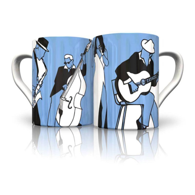 Bone China Mug Blues