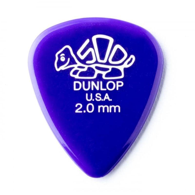 Dunlop Picks Delrin 500 Standard 2.00mm Players Pack 12