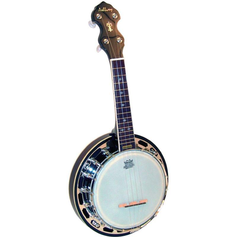 Ashbury AB-48U Ukulele Banjo, Mahogany Resonator