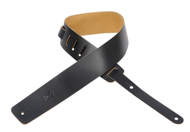 Levy's M1-BLK Leather Strap Black Guitar Strap