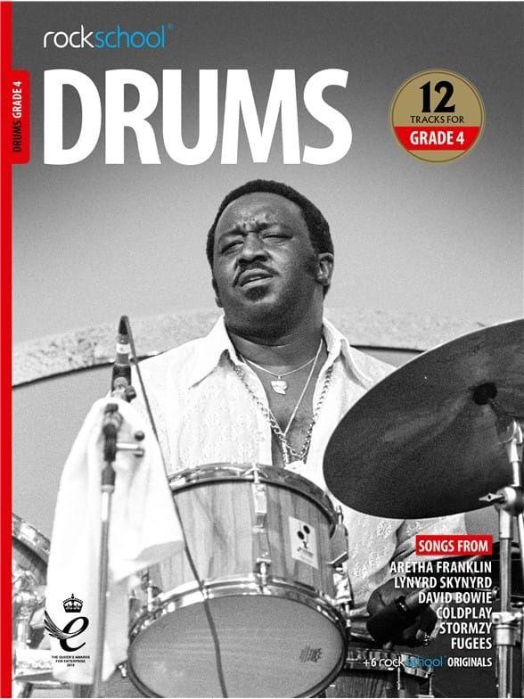 Rockschool Drums Grade 4 from 2018 (Book + Audio)