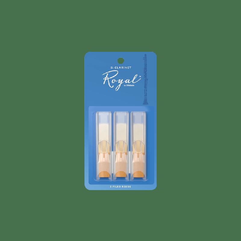 Rico Royal Bb Clarinet Reeds, Strength 2.0 (3 Pack)